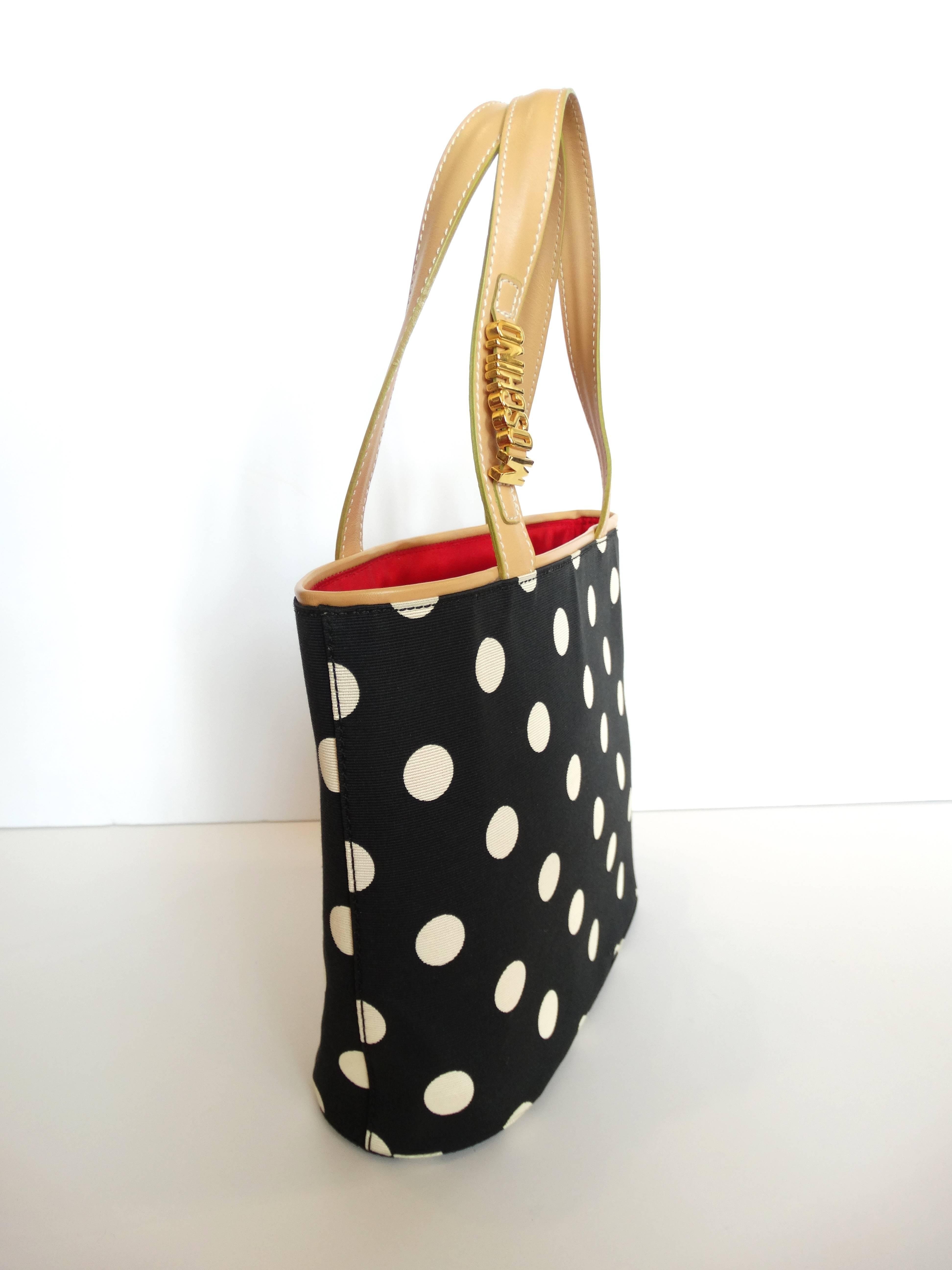 Moschino 1999 Moschino Couture! Polkadot Shopper Bag mbHWn