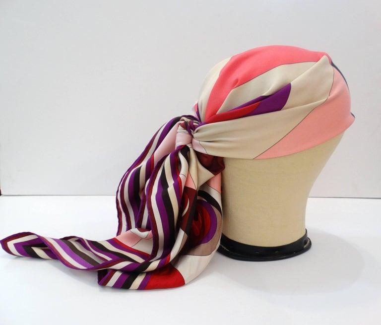 Women's 1990s Geometric Pucci Silk Scarf For Sale