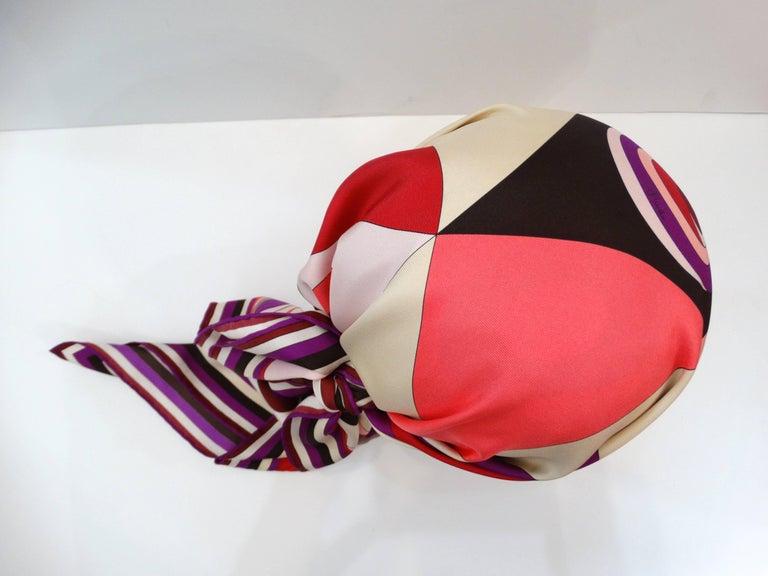 1990s Geometric Pucci Silk Scarf For Sale 1