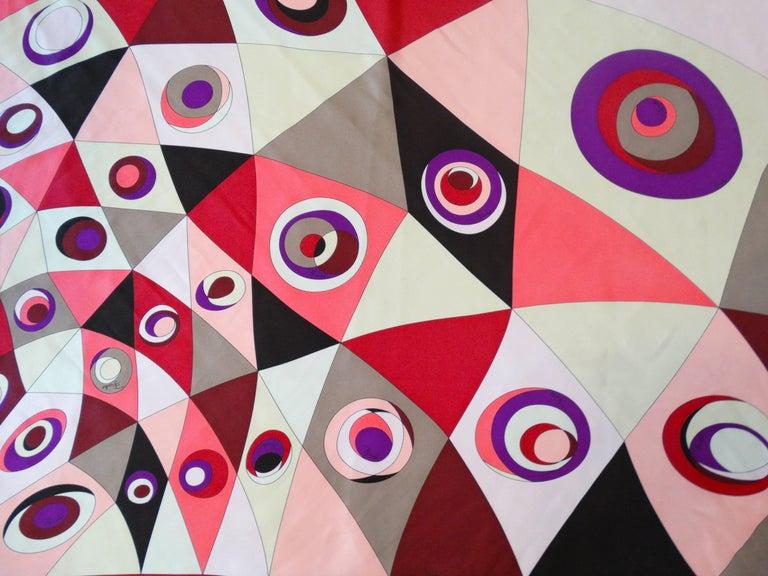 1990s Geometric Pucci Silk Scarf For Sale 2