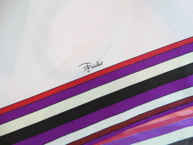 1990s Geometric Pucci Silk Scarf For Sale 3