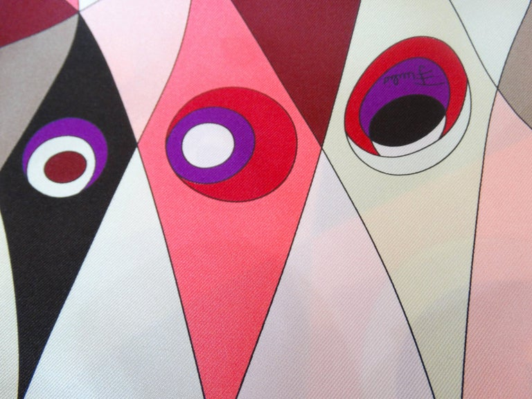 1990s Geometric Pucci Silk Scarf For Sale 4