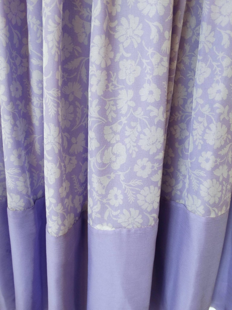 1970s Valentino Lilac Pintuck Gown For Sale 5