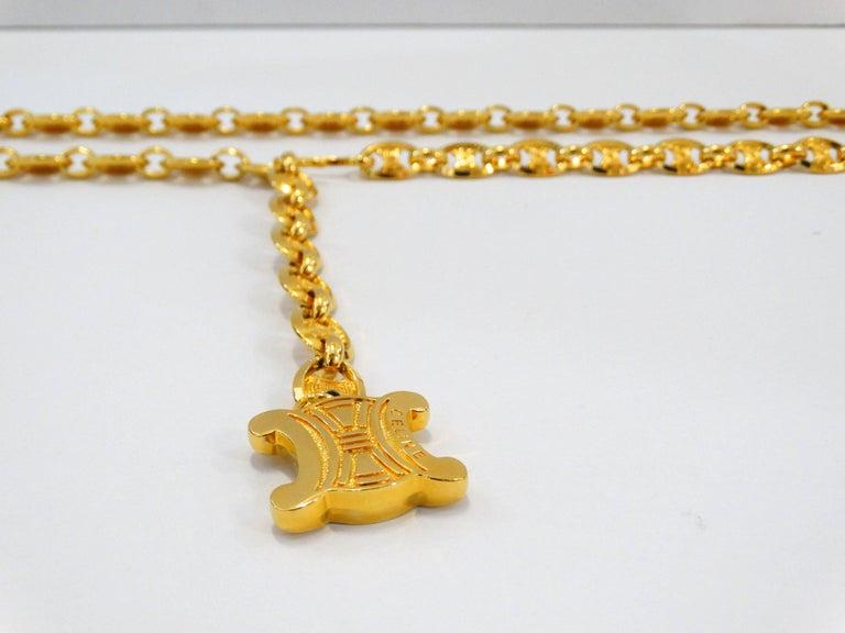 eb7ea59867121 Celine Gold Chain Belt In Excellent Condition For Sale In Scottsdale, AZ