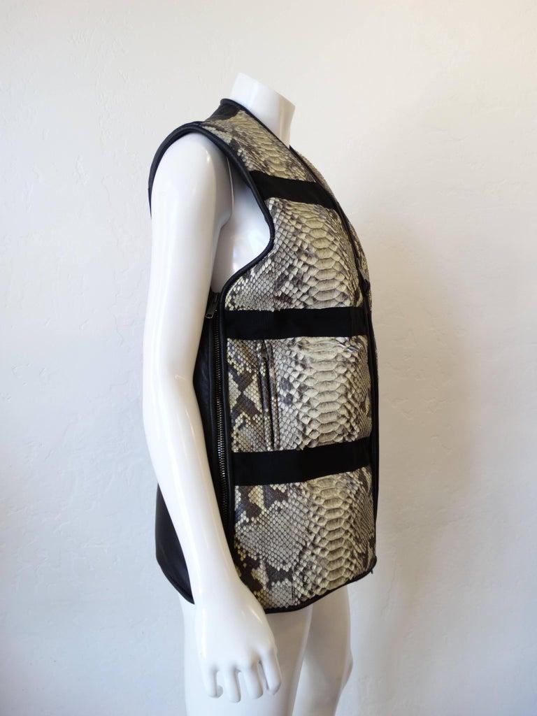 Women's or Men's Damir Doma Python Vest  For Sale