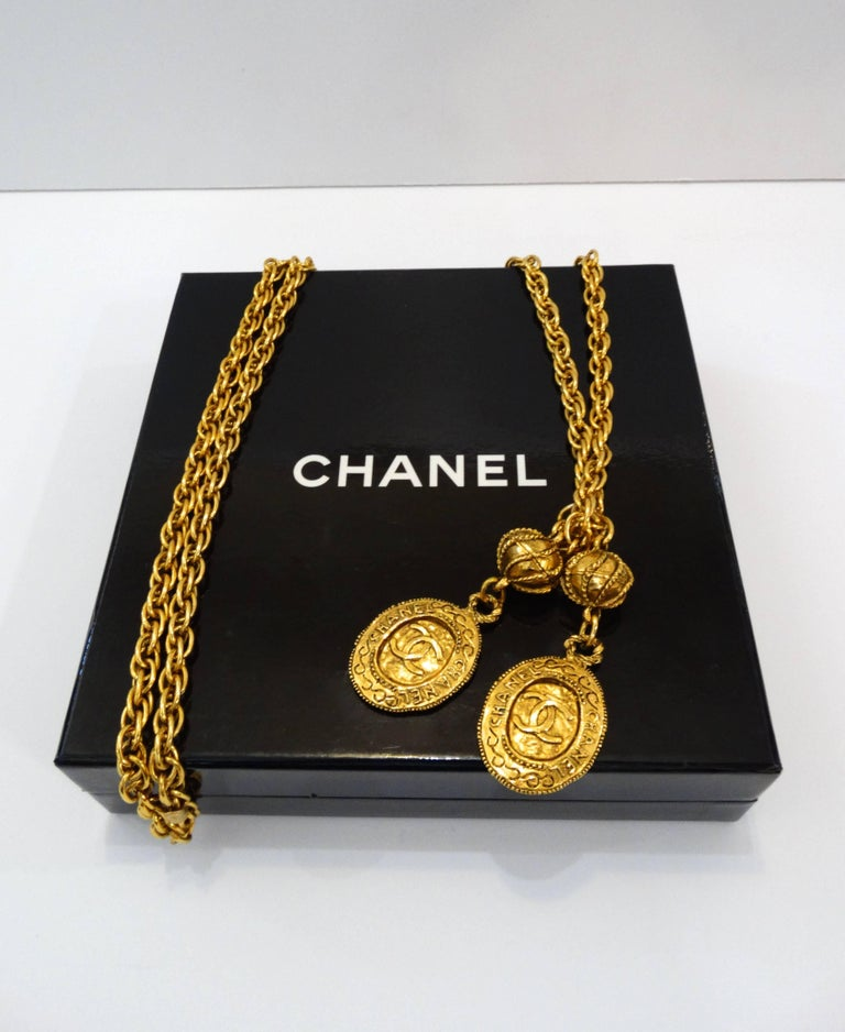 1980s chanel lariat chain necklace for sale at 1stdibs
