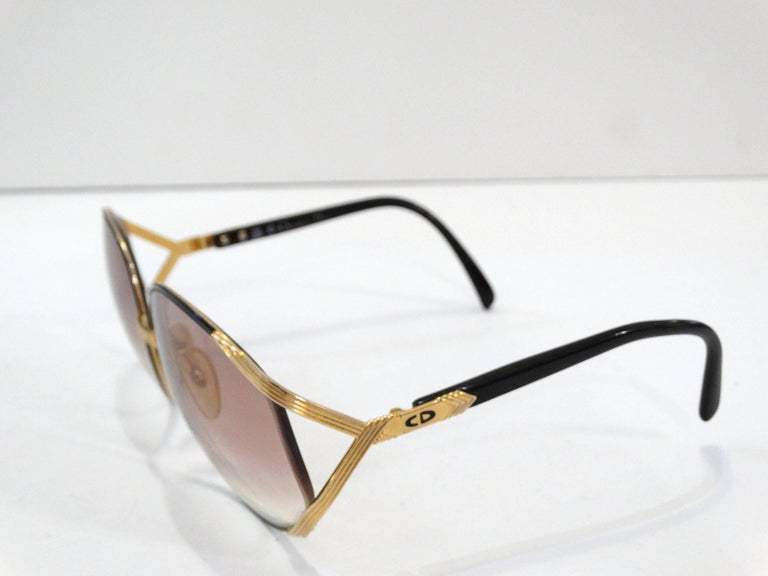 Iconic Christian Dior Oversized Sunglasses In Excellent Condition For Sale In Scottsdale, AZ