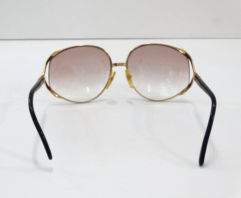 Iconic Christian Dior Oversized Sunglasses For Sale 2