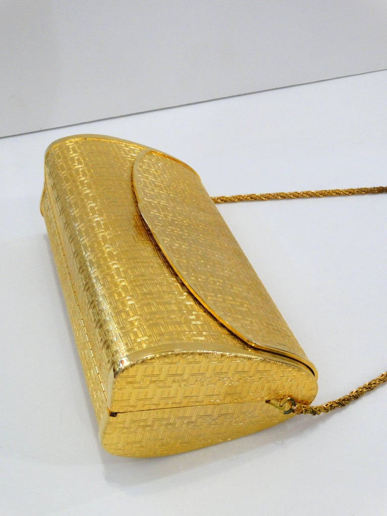 1960s Saks Fifth Avenue Gold Metal Evening Bag 3
