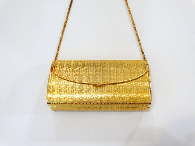 1960s Saks Fifth Avenue Gold Metal Evening Bag 4