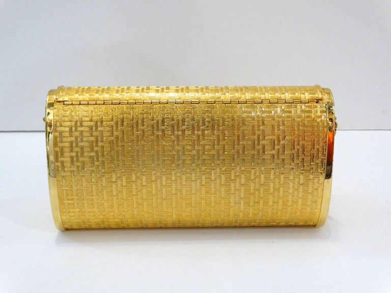 1960s Saks Fifth Avenue Gold Metal Evening Bag 5