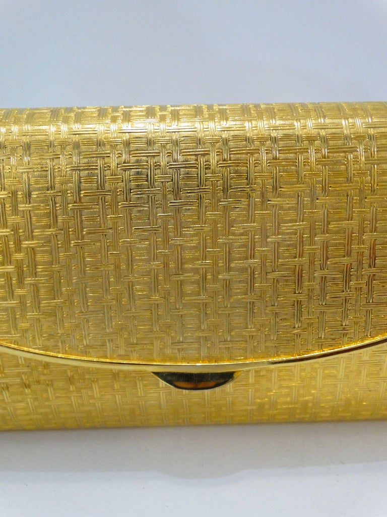 1960s Saks Fifth Avenue Gold Metal Evening Bag 7