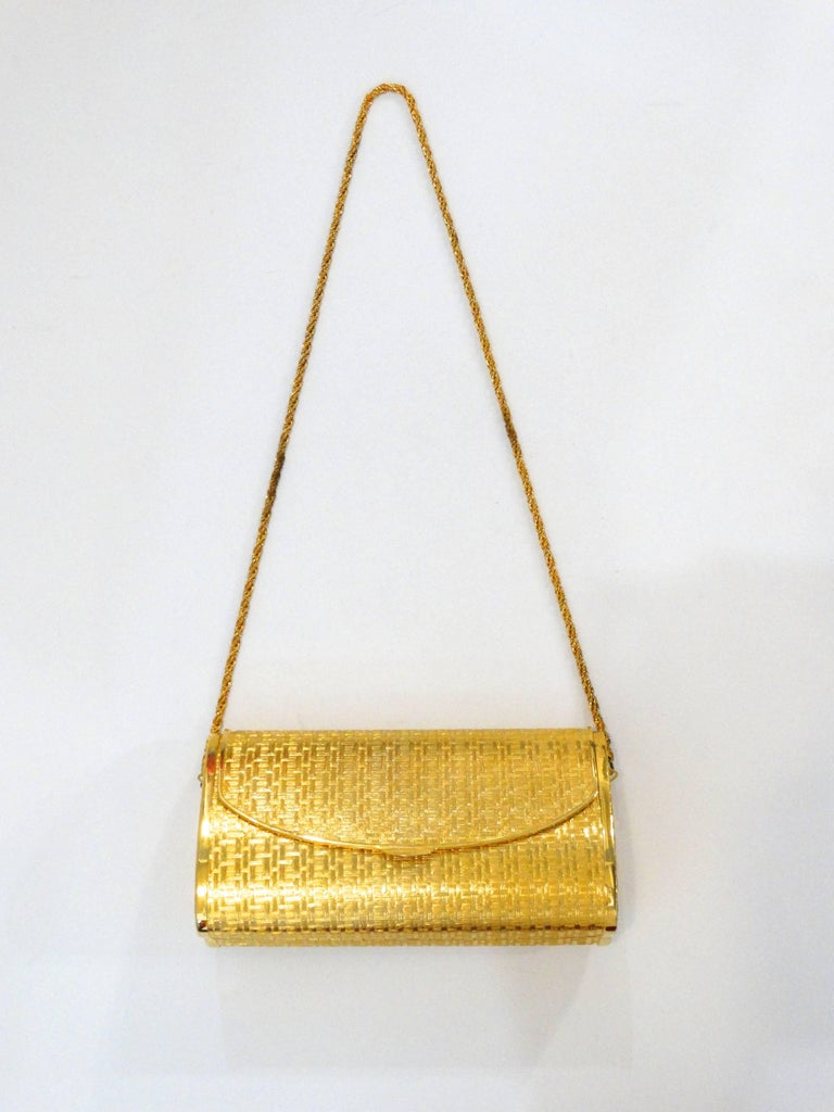 1960s Saks Fifth Avenue Gold Metal Evening Bag 2