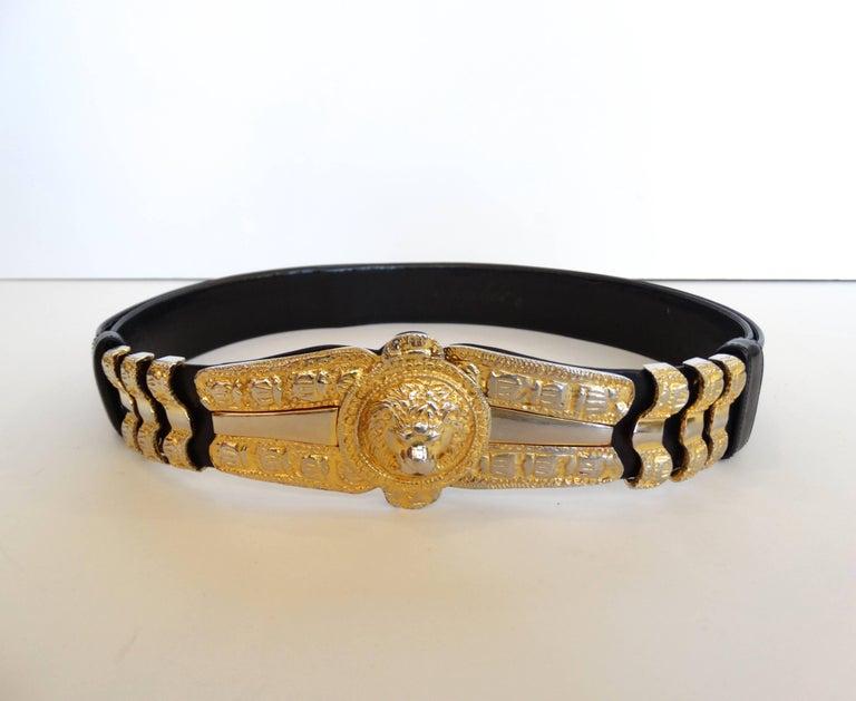 1980s Judith Leiber Lion Adjustable Belt 5