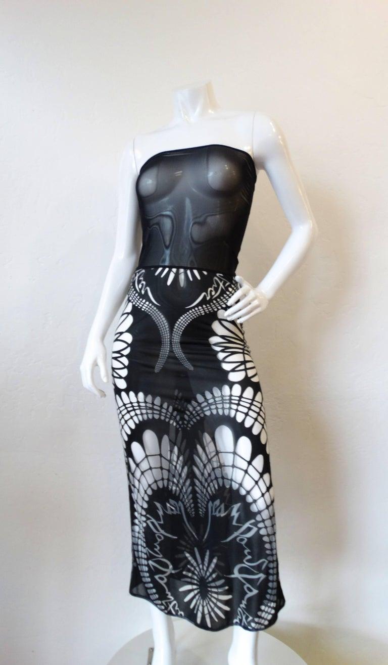 1990s Jean Paul Gaultier Gothic Tube Dress  2