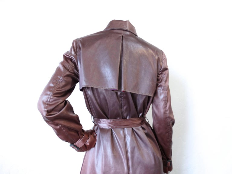 Gray 1990s Emilio Pucci Dusty Lilac Satin Trenchcoat  For Sale