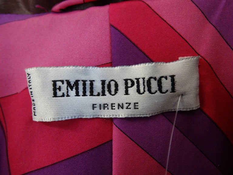 1990s Emilio Pucci Dusty Lilac Satin Trenchcoat  For Sale 1