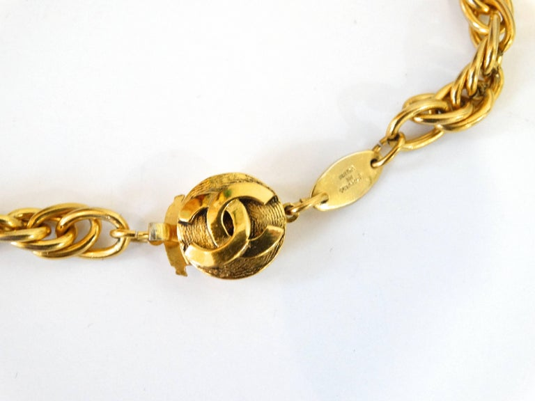 1984 Chanel Sagittarius Zodiac Medallion Necklace   In Excellent Condition For Sale In Scottsdale, AZ