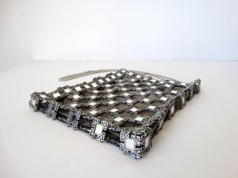 1990s Clara Kasavina Mirrored Evening Bag  For Sale 3