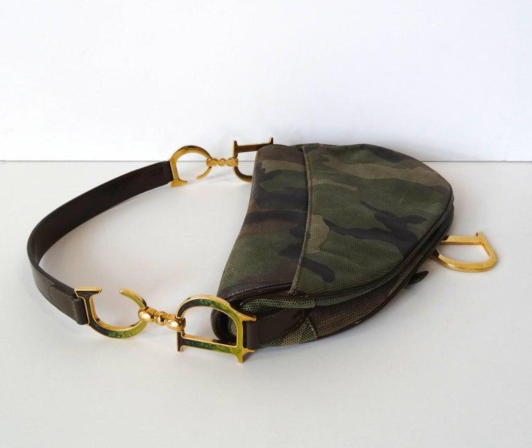 Christian Dior Camouflage Saddle Bag For Sale 5