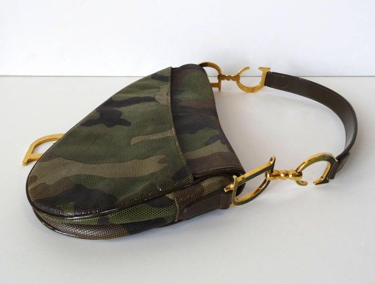 Christian Dior Camouflage Saddle Bag For Sale 3