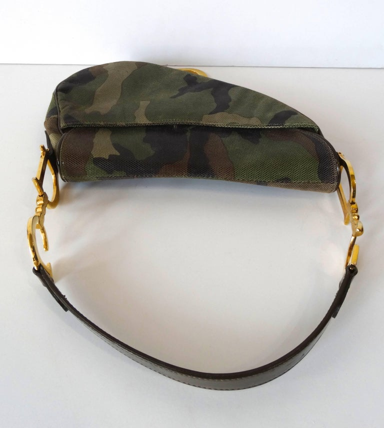 Christian Dior Camouflage Saddle Bag For Sale 4