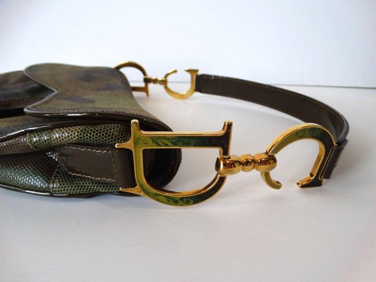 Black Christian Dior Camouflage Saddle Bag For Sale