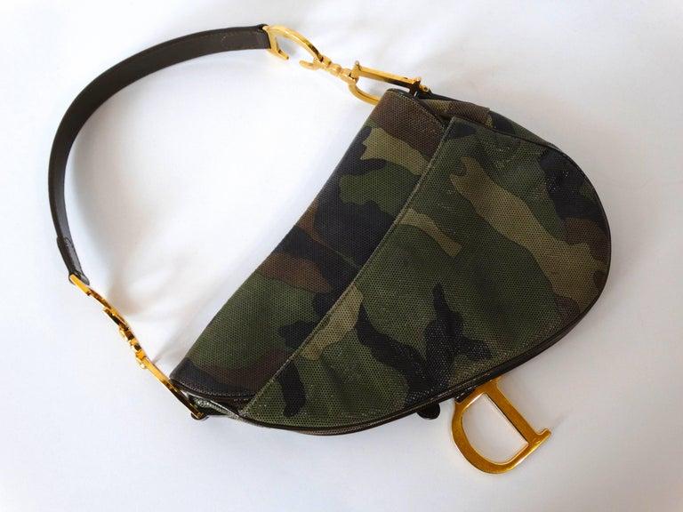 Christian Dior Camouflage Saddle Bag For Sale 2