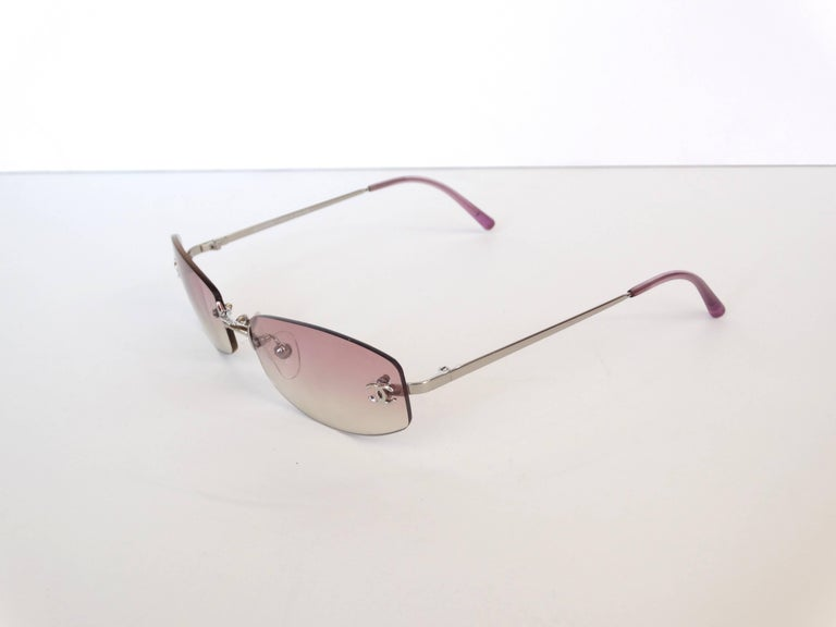 a3270d230b 2000s Chanel Pink Ombre Sunglasses at 1stdibs
