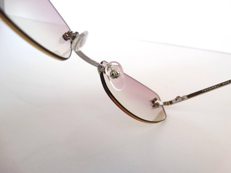 b0fb8df5f1 Women s 2000s Chanel Pink Ombre Sunglasses For Sale