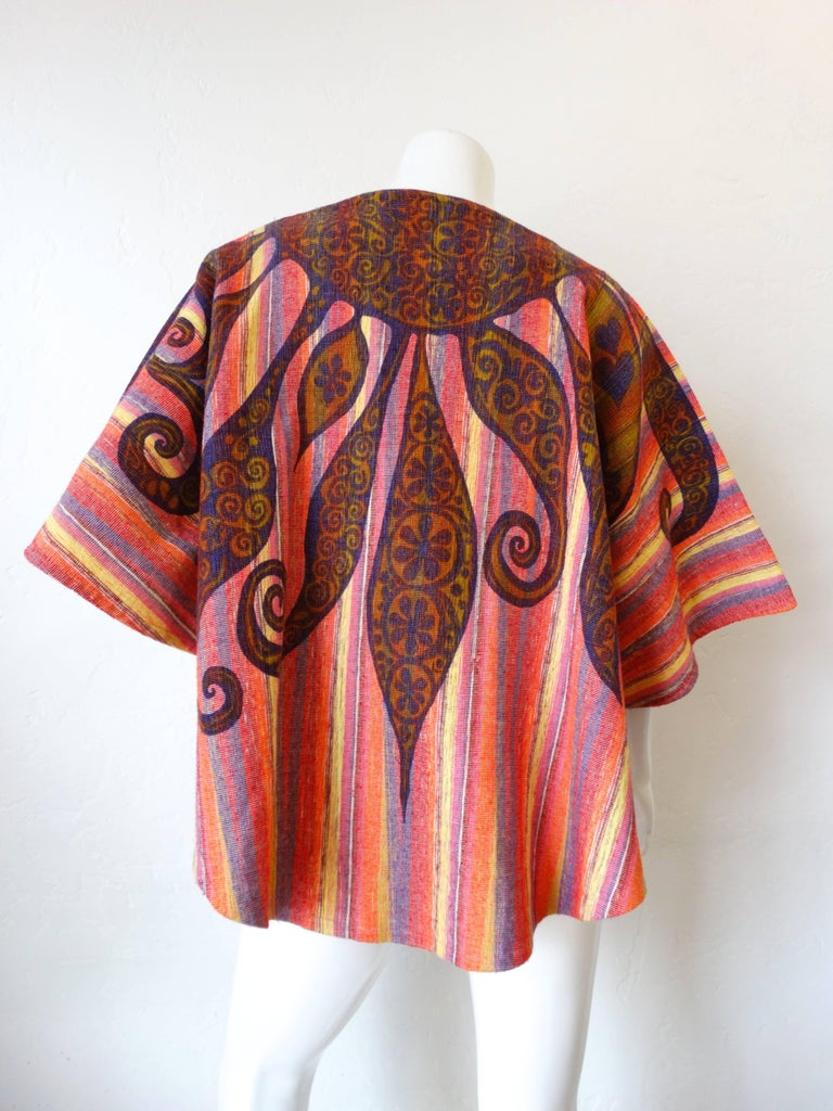 1970s Rikma Striped Bell Sleeve Top 1
