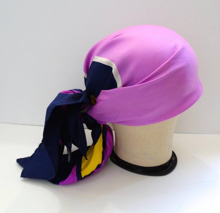 Yves Saint Laurent Color Block Silk Scarf, 1960s  For Sale 2