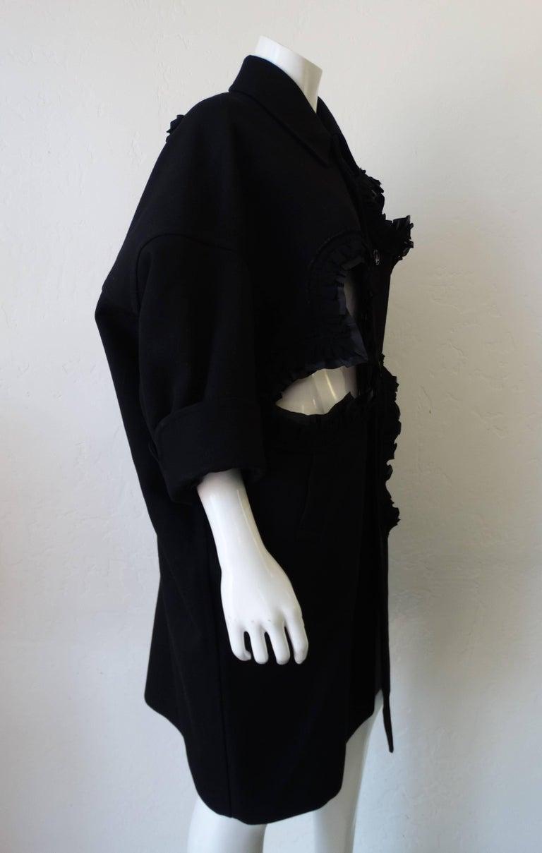 Women's Rare 2008 Autumn/Winter Comme Des Garcons Heart Cut-Out Coat  For Sale