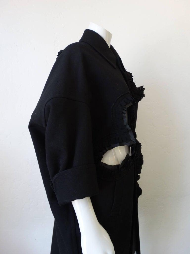 Rare 2008 Autumn/Winter Comme Des Garcons Heart Cut-Out Coat  In Excellent Condition For Sale In Scottsdale, AZ