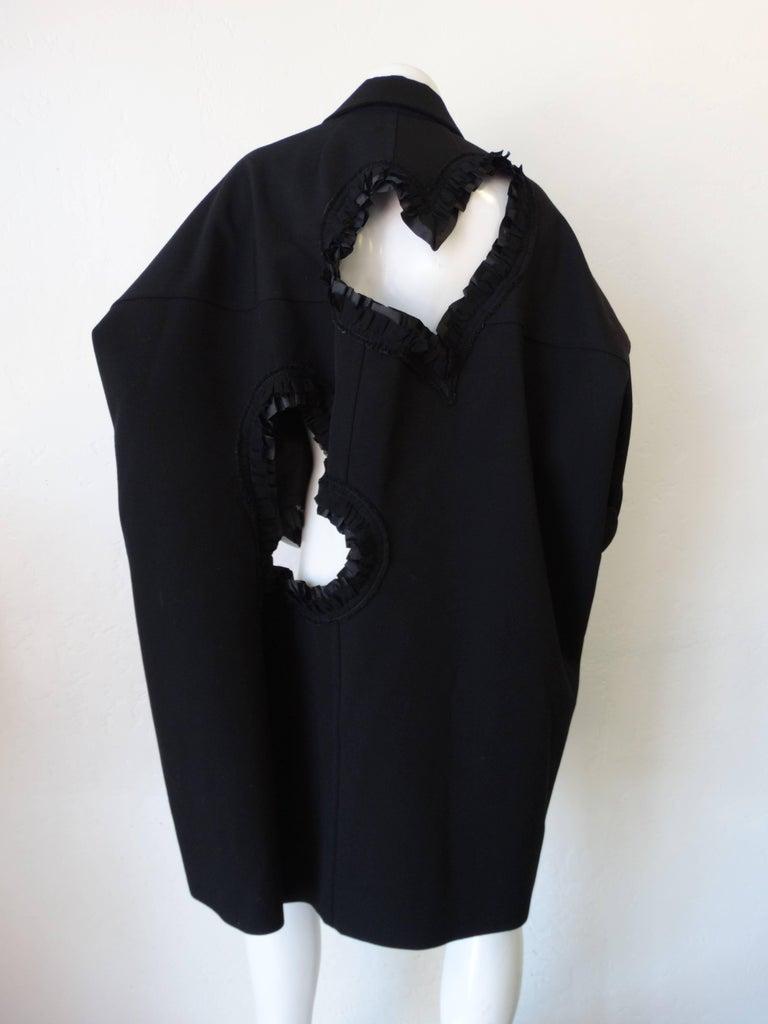 Rare 2008 Autumn/Winter Comme Des Garcons Heart Cut-Out Coat  For Sale 1
