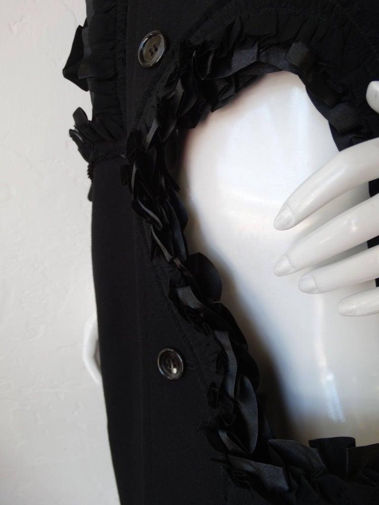 Rare 2008 Autumn/Winter Comme Des Garcons Heart Cut-Out Coat  For Sale 3