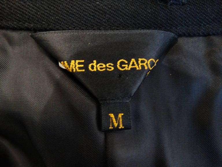 Rare 2008 Autumn/Winter Comme Des Garcons Heart Cut-Out Coat  For Sale 4