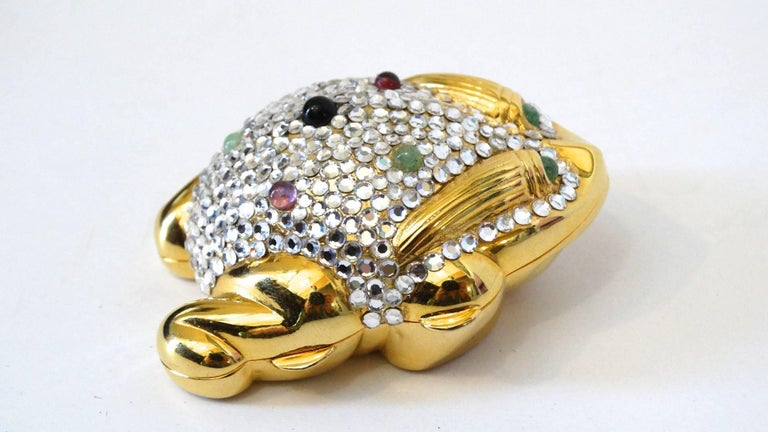 Women's or Men's Judith Leiber Frog Pillbox, 1984   For Sale