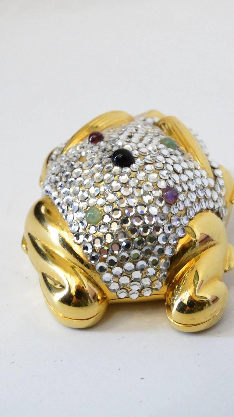 Judith Leiber Frog Pillbox, 1984   In Excellent Condition For Sale In Scottsdale, AZ