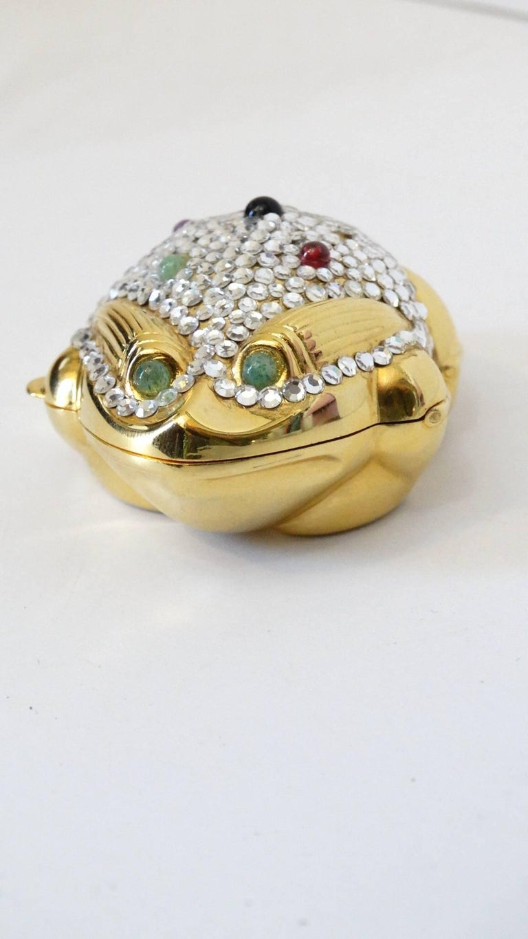 Judith Leiber Frog Pillbox, 1984   For Sale 3