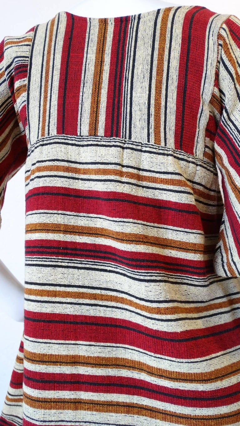 Rikma Striped Bell Sleeve Blouse, 1970s  For Sale 4