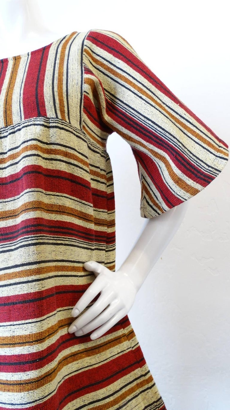 Women's Rikma Striped Bell Sleeve Blouse, 1970s  For Sale