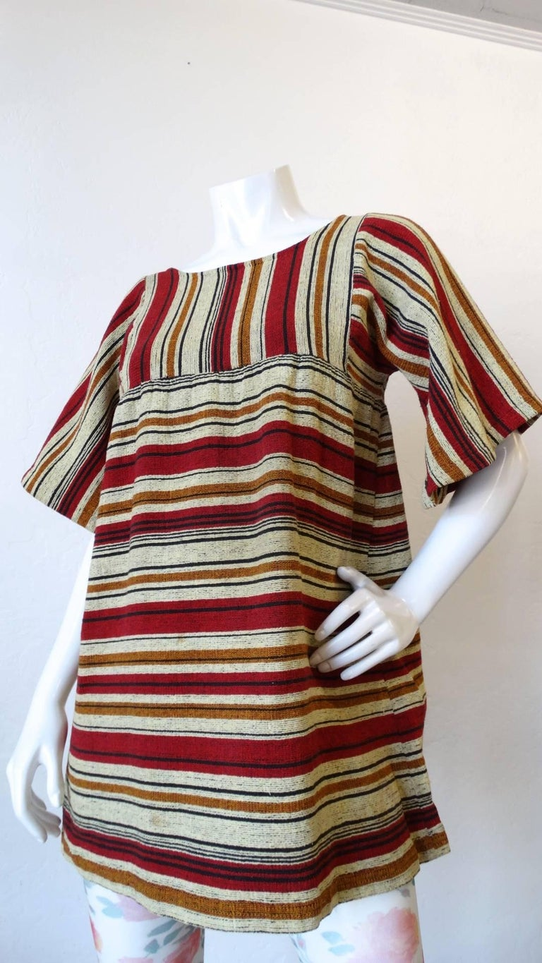 Rikma Striped Bell Sleeve Blouse, 1970s  For Sale 6