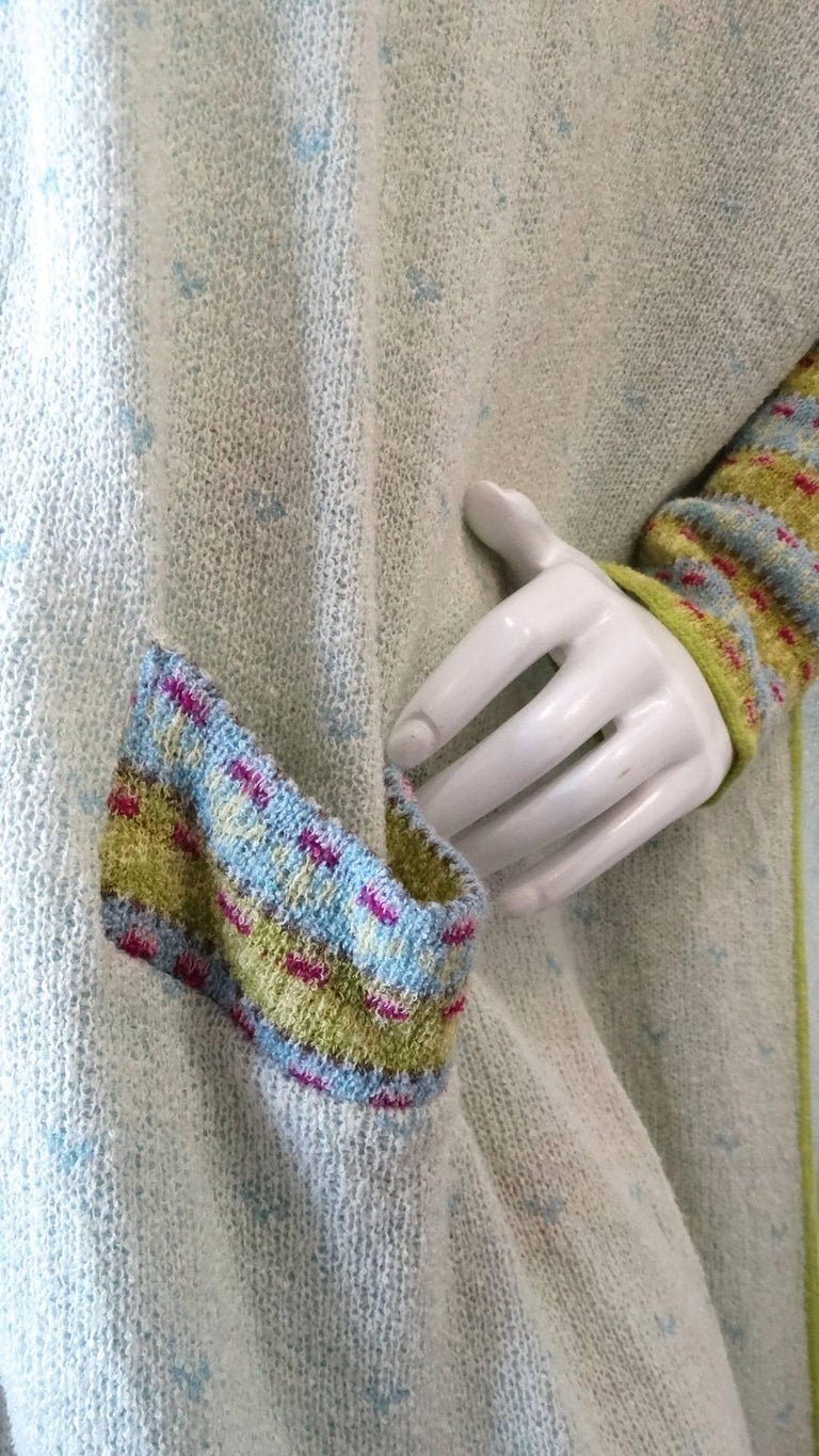 Bill Gibb Knit Duster Jacket, 1970s  For Sale 2
