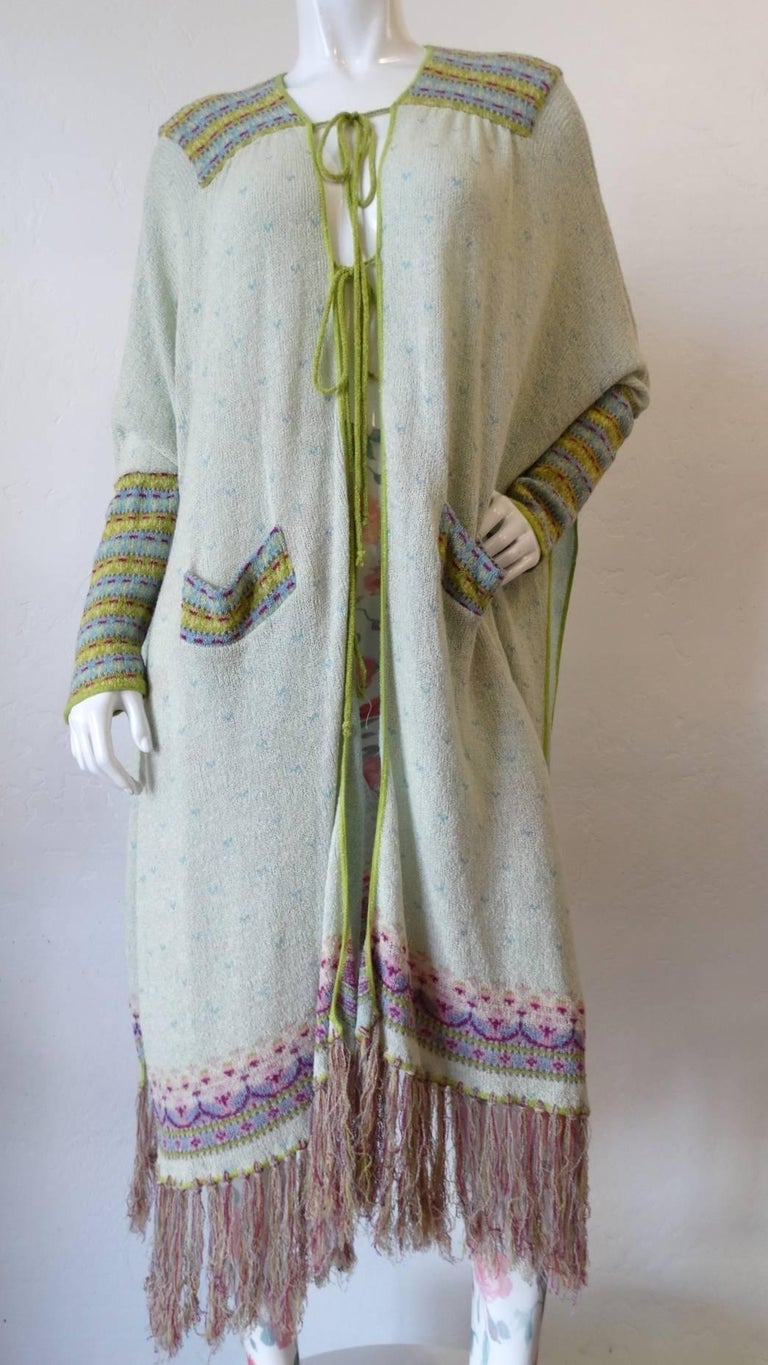 Bill Gibb Knit Duster Jacket, 1970s  For Sale 13