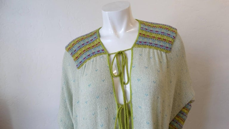 Bill Gibb Knit Duster Jacket, 1970s  For Sale 4
