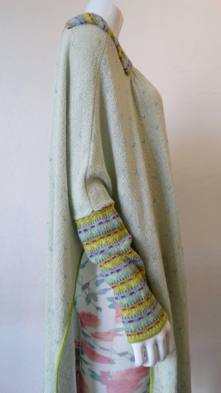 Bill Gibb Knit Duster Jacket, 1970s  For Sale 5