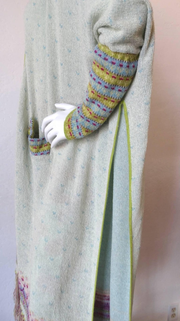 Bill Gibb Knit Duster Jacket, 1970s  For Sale 11