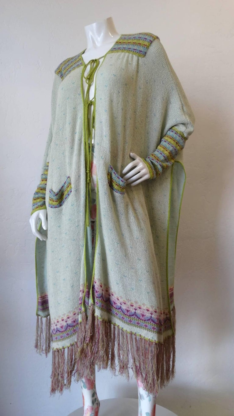 Bill Gibb Knit Duster Jacket, 1970s  For Sale 8