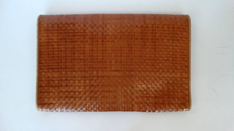 Fendi Woven Clutch, 1980s  For Sale 2